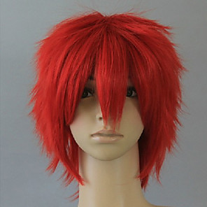 cheap Synthetic Trendy Wigs-Cosplay Costume Wig Synthetic Wig Cosplay Wig Curly Curly Wig Short Red Synthetic Hair Women's Red hairjoy