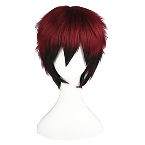 cheap Synthetic Trendy Wigs-Kuroko no Basket Kagami Taiga Cosplay Wigs Men's Women's 14 inch Heat Resistant Fiber Anime Wig