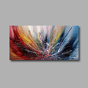 cheap Abstract Paintings-Hand-Painted Oil Painting Abstract Wall Painting Stretched Canvas Ready To Hang 100*50cm