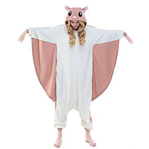 cheap Kigurumi Pajamas-Adults' Kigurumi Pajamas Squirrel Flying Squirrel Animal Onesie Pajamas Polar Fleece Pink Cosplay For Men and Women Animal Sleepwear Cartoon Festival / Holiday Costumes