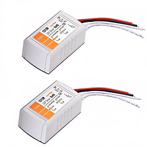cheap Light Switches-2PCS AC 110-240V to DC 12V 18W LED Voltage Converter