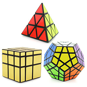 cheap Magic Cubes-Speed Cube Set 3 PCS Magic Cube IQ Cube Shengshou Pyramid Alien Megaminx Magic Cube Stress Reliever Puzzle Cube Professional Level Speed Professional Classic & Timeless Kid's Adults' Children's Toy