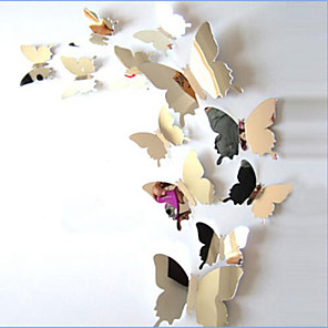 cheap Wall Stickers-Animals Wall Stickers Mirror Wall Stickers Decorative Wall Stickers, Vinyl Home Decoration Wall Decal Wall Decoration / Washable / Removable / Re-Positionable