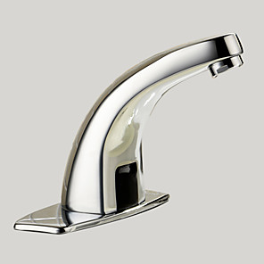 cheap Bathroom Sink Faucets-Bathroom Sink Faucet - Touch / Touchless Chrome Centerset One Hole / Hands free One HoleBath Taps