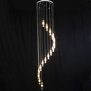 cheap Pendant Lights-50cm(19.6inch) LED Pendant Light Crystal Cluster Electroplated Traditional / Classic 110-120V / 220-240V