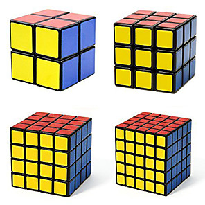 cheap Magic Cubes-Speed Cube Set 4 PCS Magic Cube IQ Cube Shengshou 2*2*2 3*3*3 4*4*4 5*5*5 Magic Cube Stress Reliever Puzzle Cube Professional Level Speed Professional Classic & Timeless Kid's Adults' Children's Toy