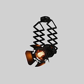 cheap Spot Lights-Vintage Loft Spot Light Industrial Pendant Light Black Spotlights Clothes Store Ceiling Lamp