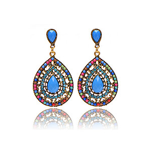 cheap Jewelry Sets-Women's Girls' Drop Earrings Drop Ladies Personalized Vintage Bohemian European Colorful Resin Earrings Jewelry Green / Blue / Rainbow For Party Halloween Daily Casual