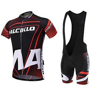 cheap Indoor IP Network Cameras-Malciklo Men's Short Sleeve Cycling Jersey with Bib Shorts Green Blue Pink British Bike Clothing Suit Breathable 3D Pad Quick Dry Back Pocket Sports Coolmax® Lycra Classic Mountain Bike MTB Road Bike