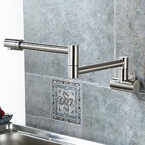 cheap Kitchen Faucets-Kitchen faucet-single handle single hole nickel brushed pot rack center set modern / modern / folding
