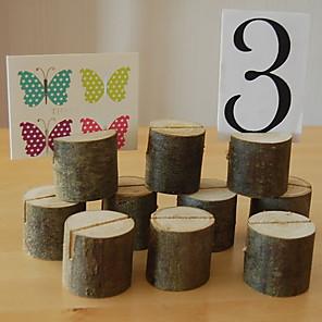 povoljno Raspored sjedenja i držači kartica-Drvo Place Cards / Kartice s brojem stola Isječci Poklon vrećica 1 pcs