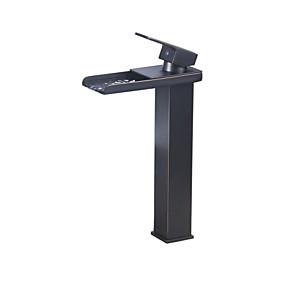 cheap Bathroom Sink Faucets-Bathroom Sink Faucet - Thermostatic Antique Bronze Vessel Single Handle One HoleBath Taps