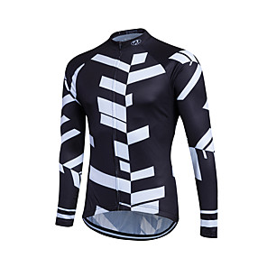 cheap Cycling Jerseys-Fastcute Men's Women's Long Sleeve Cycling Jersey Winter Coolmax® Polyester Plus Size Bike Sweatshirt Jersey Top Mountain Bike MTB Road Bike Cycling Breathable Quick Dry Reflective Strips Sports