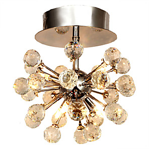 cheap Ceiling Lights-MAISHANG® 6-Light 22 cm Crystal / Mini Style Flush Mount Lights Metal Chrome Modern Contemporary 110-120V / 220-240V / Bulb Included / G4