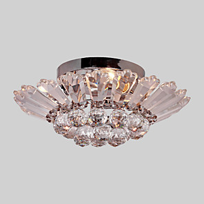 cheap Ceiling Lights-3-Light 40 cm Crystal Flush Mount Lights Metal Anodized / Electroplated Modern Contemporary 110-120V / 220-240V
