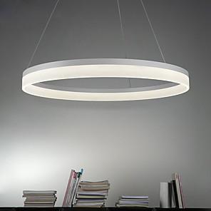 "cheap Pendant Lights-1-Light 60cm(24"") LED Pendant Light Metal Acrylic Circle Painted Finishes Modern Contemporary 90-240V"