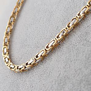 cheap Men's Necklaces-Men's Chain Necklace Ladies Vintage Fashion Hip-Hop Titanium Steel Golden Black Silver Necklace Jewelry For Party Daily Casual