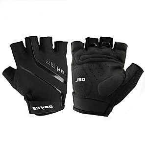cheap Protective Gear-Bike Gloves / Cycling Gloves Mountain Bike Gloves Mountain Bike MTB Road Bike Cycling Breathable Padded Anti-Slip Wearproof Fingerless Gloves Half Finger Sports Gloves Leather Mesh Silicone Gel Black