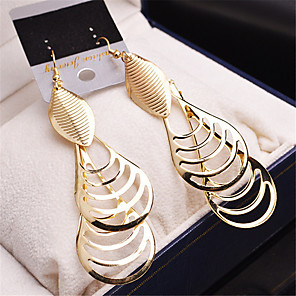 cheap Earrings-Women's Girls' Fashion Gold Plated Earrings Jewelry Gold / Silver For Wedding Party Casual / Multi-stone