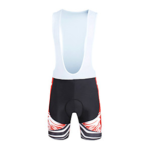 cheap Synthetic Lace Wigs-ILPALADINO Men's Cycling Bib Shorts Bike Bib Shorts Pants Bottoms Windproof Breathable 3D Pad Sports Lycra Red Road Bike Cycling Clothing Apparel Relaxed Fit Bike Wear / Quick Dry / Anatomic Design
