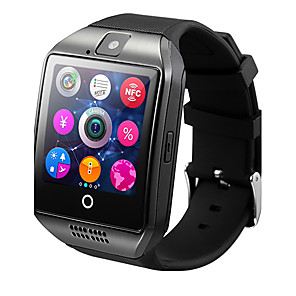 cheap Smartwatches-Q18 Smart Watch BT Fitness Tracker Support Notify/ Heart Rate Monitor/ Hands-Free Calls with Camera & SIM-card Slot Sports Smartwatch Compatible Samsung/ Android/ Iphone