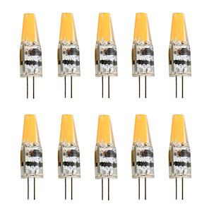 cheap LED Bi-pin Lights-10pcs 2 W LED Bi-pin Lights 200-250 lm G4 T 1 LED Beads COB Decorative Warm White Cold White 12 V / 10 pcs