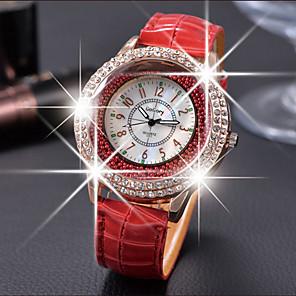 cheap Quartz Watches-Women's Luxury Watches Floating Crystal Watch Diamond Watch Quartz Ladies Casual Watch Leather Black / White / Red Analog - White Black Purple