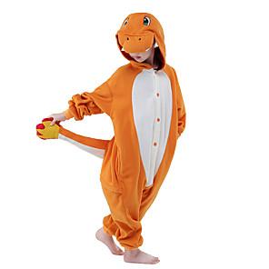 cheap Kigurumi Pajamas-Kid's Kigurumi Pajamas Dragon Animal Onesie Pajamas Velvet Mink Brown / Yellow / Orange Cosplay For Boys and Girls Animal Sleepwear Cartoon Festival / Holiday Costumes / Leotard / Onesie
