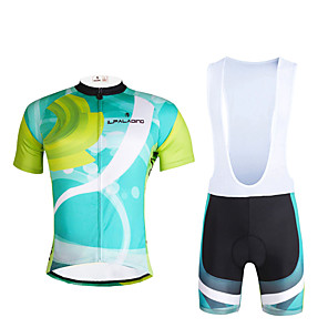 cheap Cycling Jersey & Shorts / Pants Sets-ILPALADINO Men's Short Sleeve Cycling Jersey with Bib Shorts Lycra Polyester Bike Clothing Suit Breathable 3D Pad Quick Dry Ultraviolet Resistant Reflective Strips Sports Fashion Mountain Bike MTB