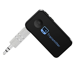 cheap Bluetooth Car Kit/Hands-free-Bluetooth Transmitter Music Audio Stereo with 3.5mm Audio Output Bluetooth Reciever Handsfree Speakers For Car/TV/Computer Music Audio Aux Headphones 8-Hour Battery Life Handsfree Calls Support atpX