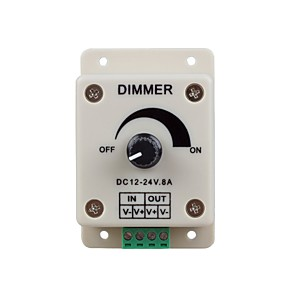 cheap Light Switches-1PC DC12-24V 8Amp 0%-100% Monochrome Dimming Controller for For LED Lights or Ribbon