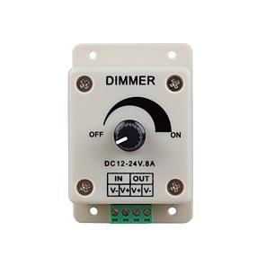 preiswerte Lichtschalter-zdm 1pc dc12-24v 8amp 0% -100% Monochrom-Dimmer für LED-Lichter oder Farbband