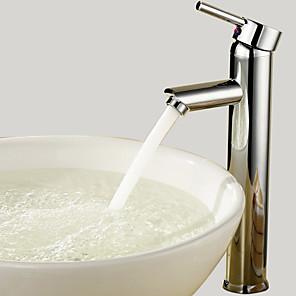 cheap Bathroom Sink Faucets-Bathroom Sink Faucet - Standard Chrome Vessel One Hole / Single Handle One HoleBath Taps