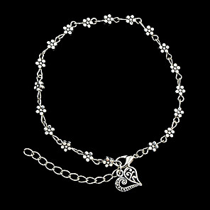 cheap Jewelry Sets-Women's Chain Bracelet Cuff Bracelet Flower Ladies Personalized Fashion Alloy Bracelet Jewelry Silver For Christmas Gifts Party Daily