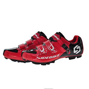 cheap Cycling Jersey & Shorts / Pants Sets-SIDEBIKE Mountain Bike Shoes Carbon Fiber Cushioning Cycling Black / Red Men's Cycling Shoes / Breathable Mesh