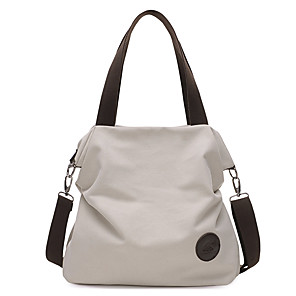 cheap Handbag & Totes-Women's Canvas Tote Canvas Bag Solid Colored Gray / Coffee / Blue