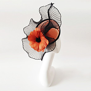 cheap Fascinators-Flax Fascinators with 1 Wedding / Special Occasion Headpiece