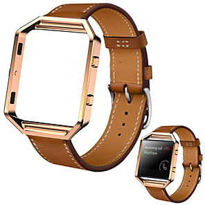 cheap Smartwatch Bands-Watch Band for Fitbit Blaze Fitbit Sport Band Leather Wrist Strap