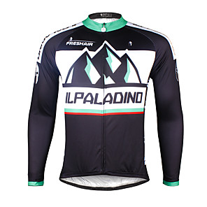 cheap Cycling Jerseys-ILPALADINO Men's Long Sleeve Cycling Jersey Winter Bike Jersey Top Mountain Bike MTB Road Bike Cycling Breathable Quick Dry Ultraviolet Resistant Sports Clothing Apparel / Stretchy / Back Pocket