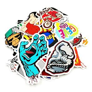 cheap Car Stickers-100 Pcs/ Pack Random Music Film Vinyl Skateboard Guitar Travel Case Sticker Car Decal Cute Stickers
