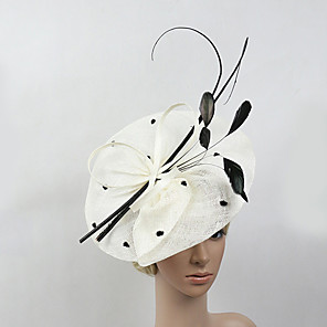cheap Fascinators-Feather / Net Kentucky Derby Hat / Fascinators with 1 Wedding / Special Occasion / Horse Race Headpiece