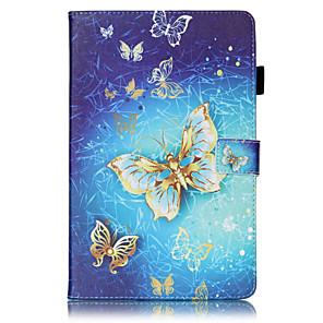 cheap Samsung Case-Case For Samsung Galaxy / Tab S2 8.0 / Tab S2 9.7 Tab 4 7.0 / Tab E 9.6 / Tab E 8.0 Wallet / Card Holder / with Stand Full Body Cases Butterfly Hard PU Leather