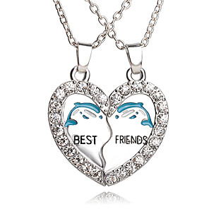 cheap Pendant Necklaces-Men's Women's Pendant Necklace Pendant Friends Heart life Tree Crescent Moon Best Friends Personalized Bohemian European Rock Alloy Silver Necklace Jewelry For Wedding Daily Casual Sports Masquerade