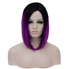 cheap Synthetic Trendy Wigs-Cosplay Costume Wig Synthetic Wig Lolita Wig Short Purple Synthetic Hair Women's Purple
