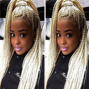 cheap Synthetic Lace Wigs-Synthetic Lace Front Wig Straight Straight Lace Front Wig Blonde Long Strawberry Blonde Synthetic Hair Women's Natural Hairline African American Wig Braided Wig Blonde