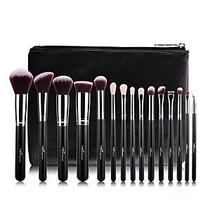 cheap Makeup Brush Sets-Professional Makeup Brushes Makeup Brush Set 15pcs Professional Full Coverage Artificial Fibre Brush Wood Makeup Brushes for Blush Brush Eyeshadow Brush Makeup Brush Set Powder Brush