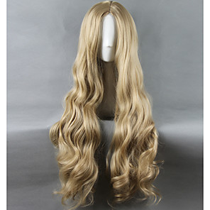 cheap Synthetic Trendy Wigs-Synthetic Wig Cosplay Wig Straight Straight Wig Blonde Long Very Long Light Blonde Synthetic Hair Women's Middle Part Blonde