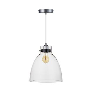 """cheap Pendant Lights-1-Light QINGMING® 27(11"""") Mini Style Pendant Light Metal Glass Chrome Traditional / Classic 110-120V / 220-240V"""