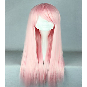 cheap Synthetic Trendy Wigs-Synthetic Wig Cosplay Wig Straight Straight Wig Pink Very Long Pink Synthetic Hair Women's Pink hairjoy