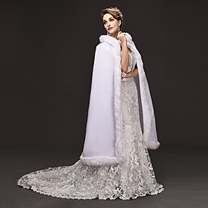 cheap Historical & Vintage Costumes-Princess Movie / TV Theme Costumes Goddess Dress Cosplay Costume Ball Gown Women's Christmas Halloween Carnival Festival / Holiday Woolen Velvet White Women's Carnival Costumes Solid Colored / Cloak